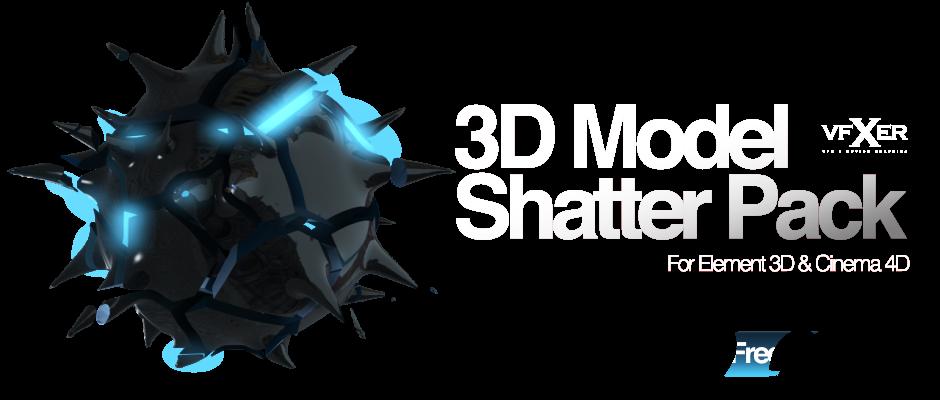 Free Element 3D Model Shatter Pack - VFXER com